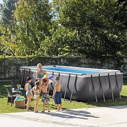 Каркасний басейн Intex Ultra Frame Pool 28386 732 см х 366 см х 132 см з хлор генератором і аксесуарами
