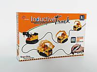 Іграшковий автомобіль для перегонів Inductive Truck пластик, від батарейок LR44, дитячі іграшки, дитячі машинки