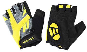 Перчатки для фитнеса SportVida SV-AG00033 (M) Black/Yellow, фото 3