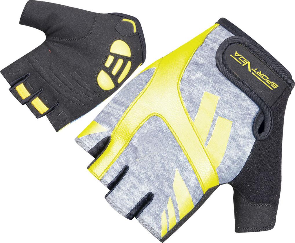 Перчатки для фитнеса SportVida SV-AG00032 (S) Black/Yellow