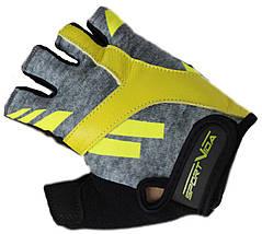 Перчатки для фитнеса SportVida SV-AG00032 (S) Black/Yellow, фото 3