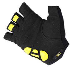 Перчатки для фитнеса SportVida SV-AG00032 (S) Black/Yellow, фото 2