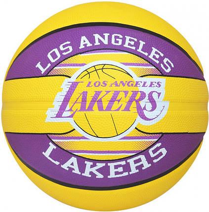 Мяч баскетбольный Spalding NBA Team L.A. Lakers Size 7, фото 2