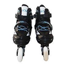 Роликовые коньки SportVida 4 в 1 SV-LG0020 Size 35-38 Black/Blue, фото 3
