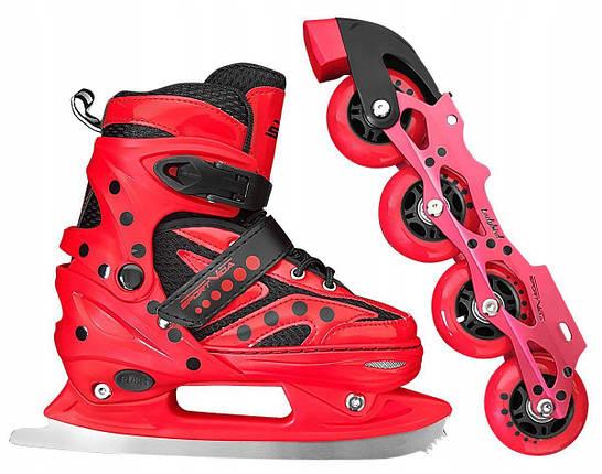 Роликовые коньки SportVida 4 в 1 SV-LG0022 Size 31-34 Red, фото 2