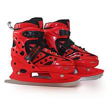 Роликовые коньки SportVida 4 в 1 SV-LG0022 Size 31-34 Red, фото 3