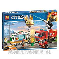 """Конструктор Lari 11213 """"Пожар в бургер-кафе"""", 345 деталей"""