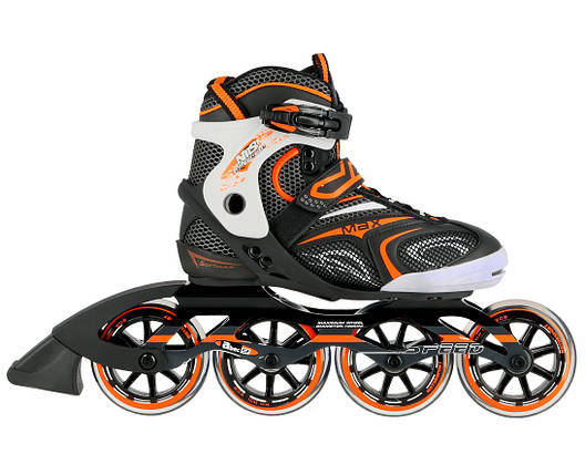 Роликовые коньки Nils Extreme NA1060S Size 41 Black/Orange, фото 2