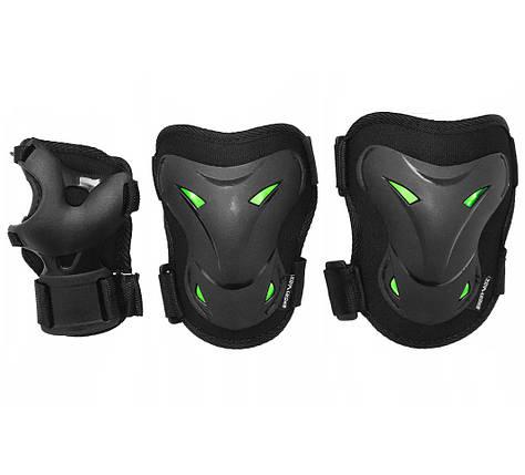 Комплект защитный SportVida SV-KY0004-L Size L Black/Green, фото 2