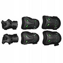 Комплект защитный SportVida SV-KY0004-L Size L Black/Green, фото 3