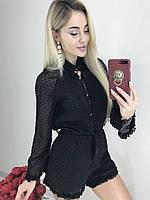 Комбинезон женский шифоновый в горох