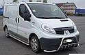 Кенгурятник с усами (защита переднего бампера) Renault Trafic 2001-2014, фото 3