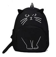 Рюкзак Міський кіт Арт чорний, фото 1