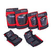 Защита наколенники, налокотники, перчатки Zelart METROPOLIS (р-р M-L, цвета в ассортименте)