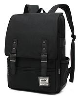 Рюкзак городской Retro черный, фото 1