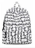 Рюкзак женский Панды черно-белый, фото 1