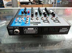 Аудио усилитель, микшерный пульт Yamaha MG-04BT 4 канальный, фото 2