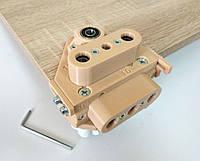 Кондуктор мебельный под минификс/minifix/шкант 34 мм универсальный 16/18