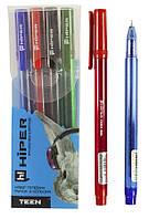 Набор ручек гелевых   HG-125/4 (красная, черная, синяя, зеленая)