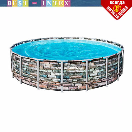 Круглый каркасный бассейн Bestway 56966 (488 x 122 см) Power Steel