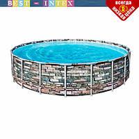Круглый каркасный бассейн Bestway 56966 (488 x 122 см) Power Steel, фото 1