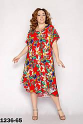 Трикотажные летние платья женские размеры 54-58