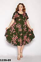 Красивое женское платье летнее размеры 54-58