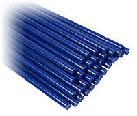 Клей сухой для термо пистолета синий с глитером