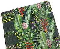 Бумага для упаковки подарков(джунгли,офсетная-Чехия, 10листов)