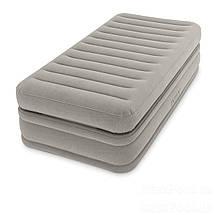 Надувная велюровая кровать Intex (64444), 191-99-51 см,с электронасосом, фото 3