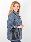 Жакет женский трикотажный большого размера Марта синий, фото 5
