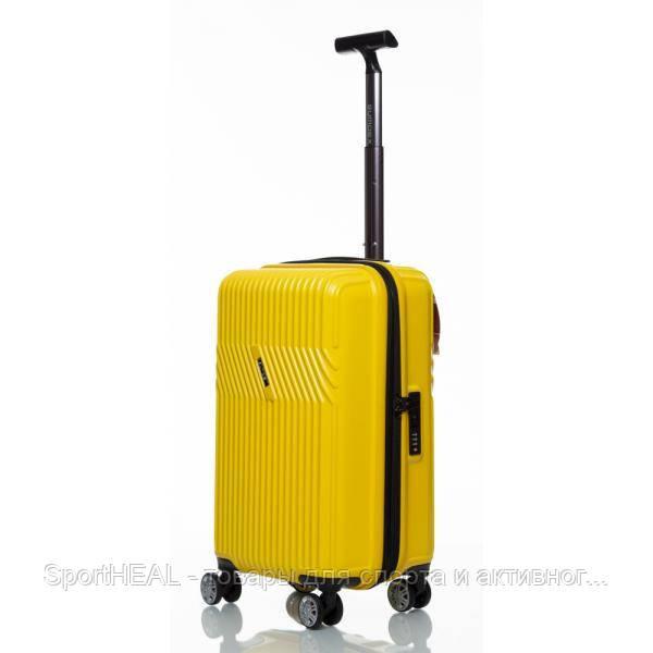Чемодан пластиковый Sumdex 720 малый желтый