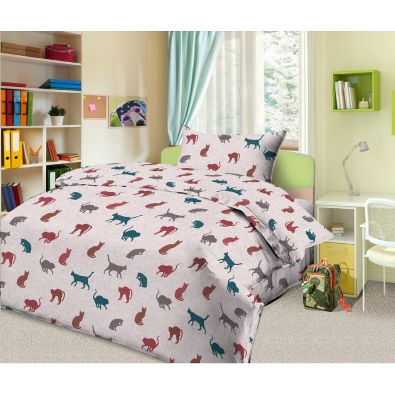 Комплект детского  постельного белья  Кошечки цветные