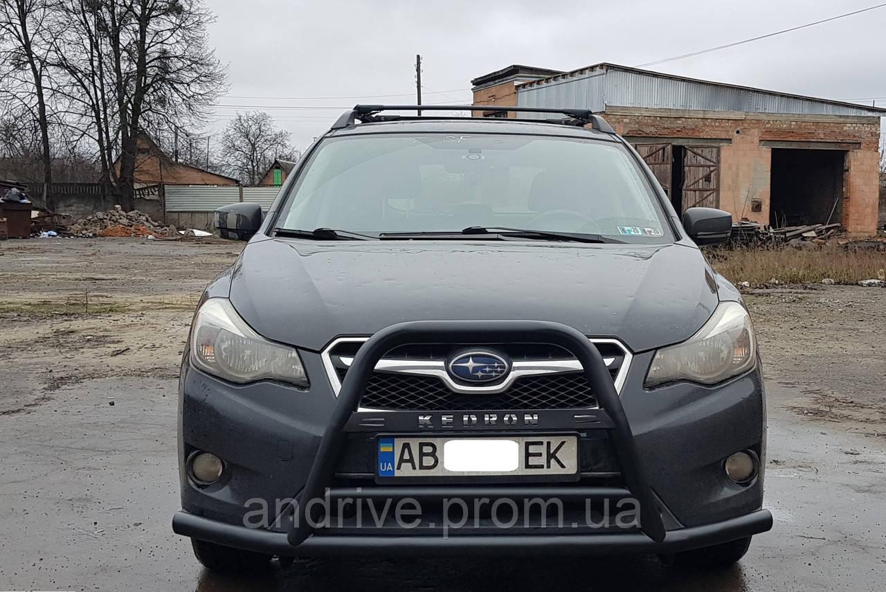 Кенгурятник черный (защита переднего бампера) Subaru XV 2011-2017