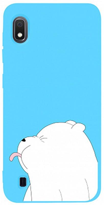 Чехол-накладка TOTO Matt TPU 2mm Print Case Samsung Galaxy A10 #57 Bear Tongue Sky Blue #I/S