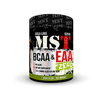 Аминокислоты MST Nutrition BCAA&EAA Zero 520 гр. (40 порций) Cola-Lime | 8 незаменимых аминокислот | Без красителей |
