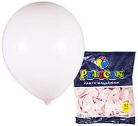 Шарики Pelican 10' (26 см), макарун розовый светлый, 50 шт/уп