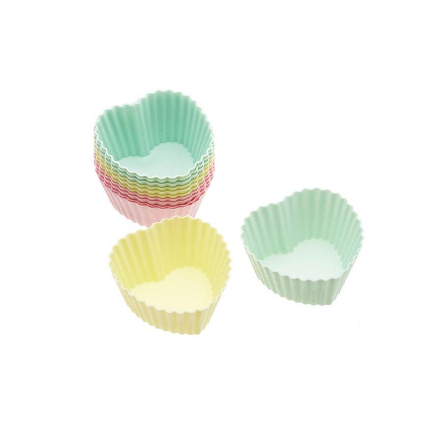Купить Формы для кексов KitchenCraft SDI силиконовые 7см 12 шт Разноцветные (102829), Kitchen Craft