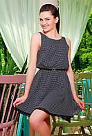 Короткое черное платье на лето, шифон, б/р