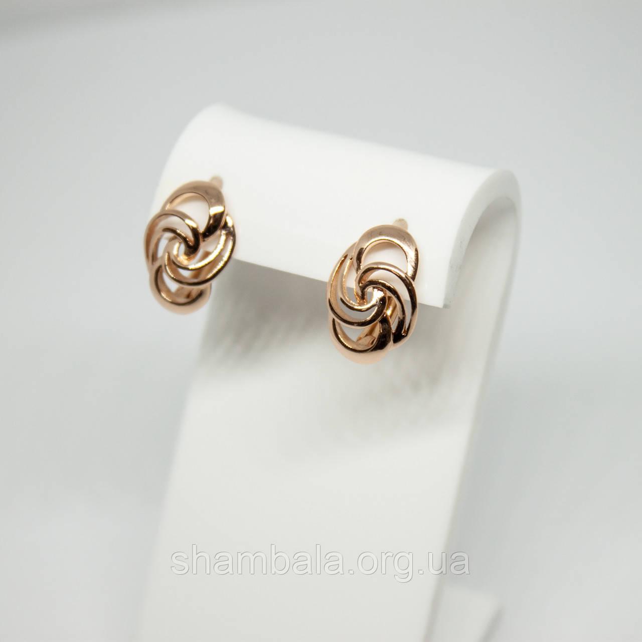 """Серьги Xuping Jewelry """"Sweet"""" позолота (63171)"""