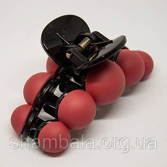 """Заколка-краб """"Bubble"""" червона (76492)"""