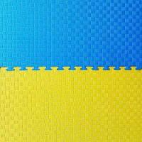 "Мат""ласточкин хвост"" 1мх1мх2,5см, желто-синий."