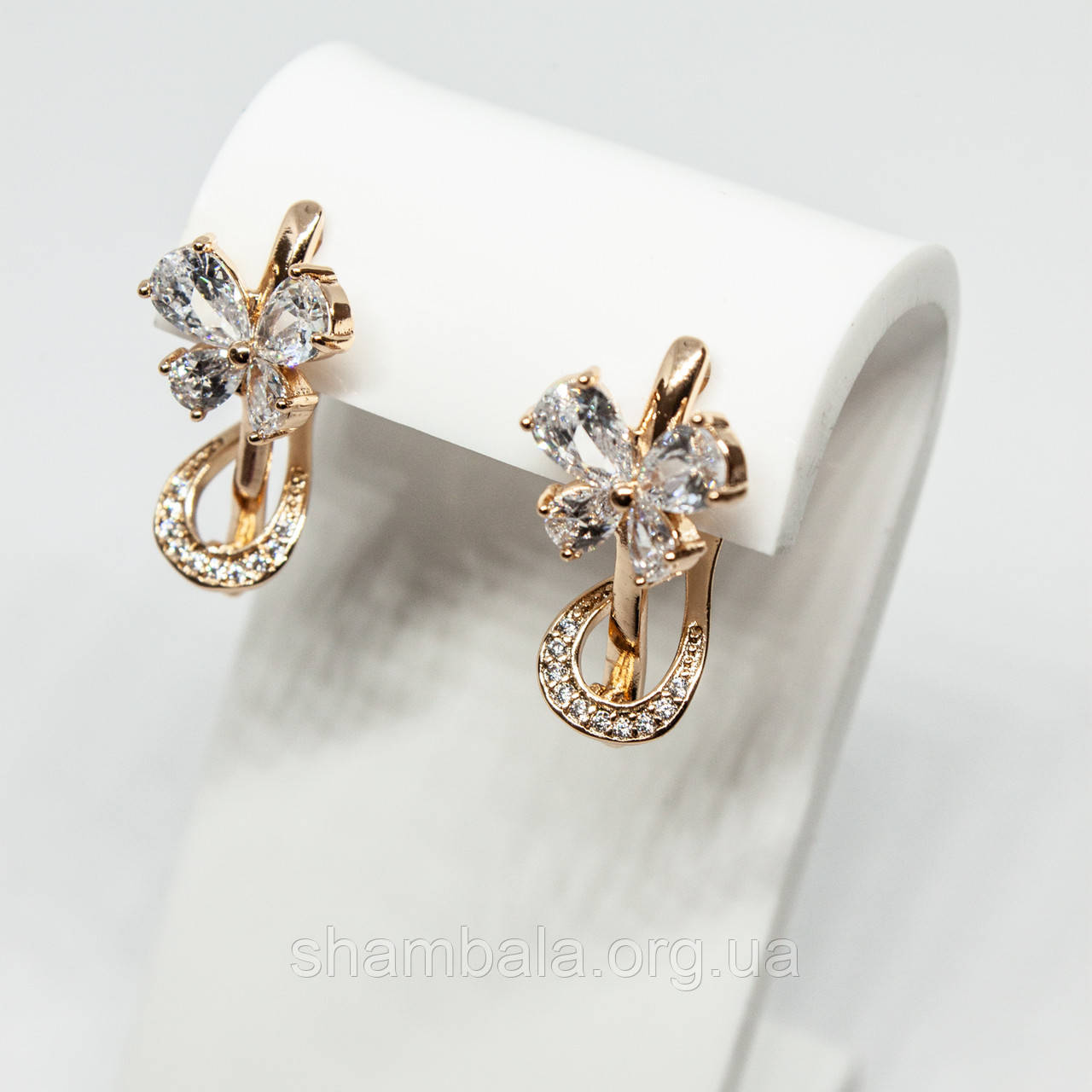 "Серьги Xuping Jewelry ""Золотой бант"" позолота (59471)"