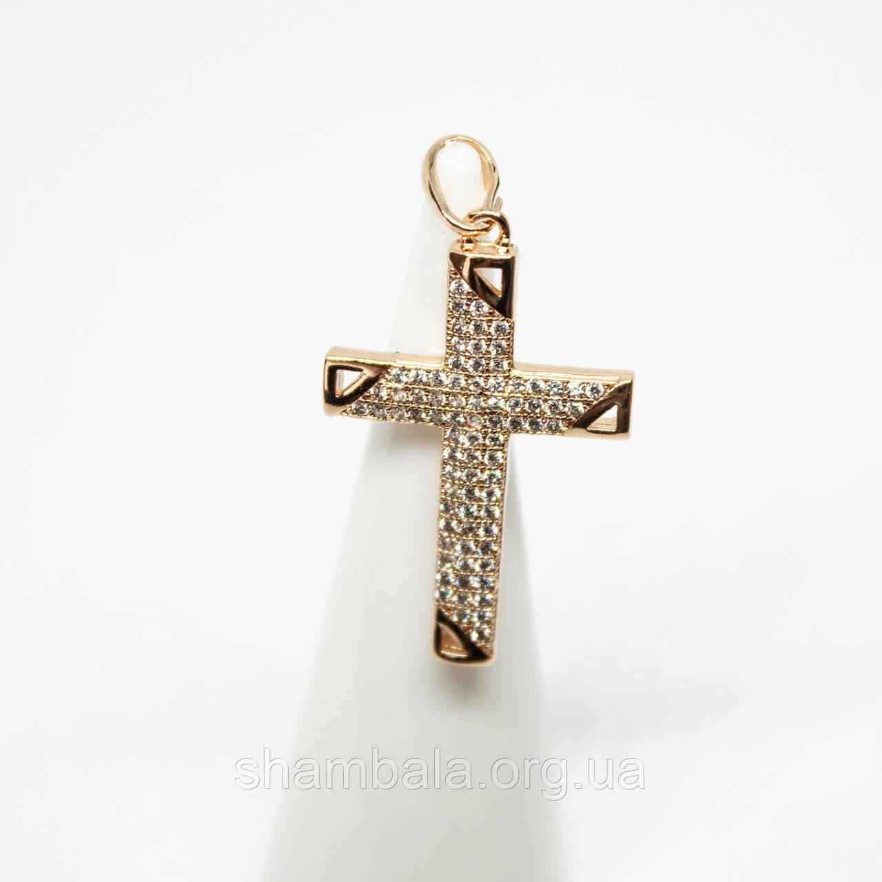 """Кулон для подвески Xuping Jewelry """"Golden cross"""" позолота  (74269)"""
