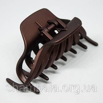 """Заколка-краб для волосся """"Крабик"""" коричнева (8684)"""