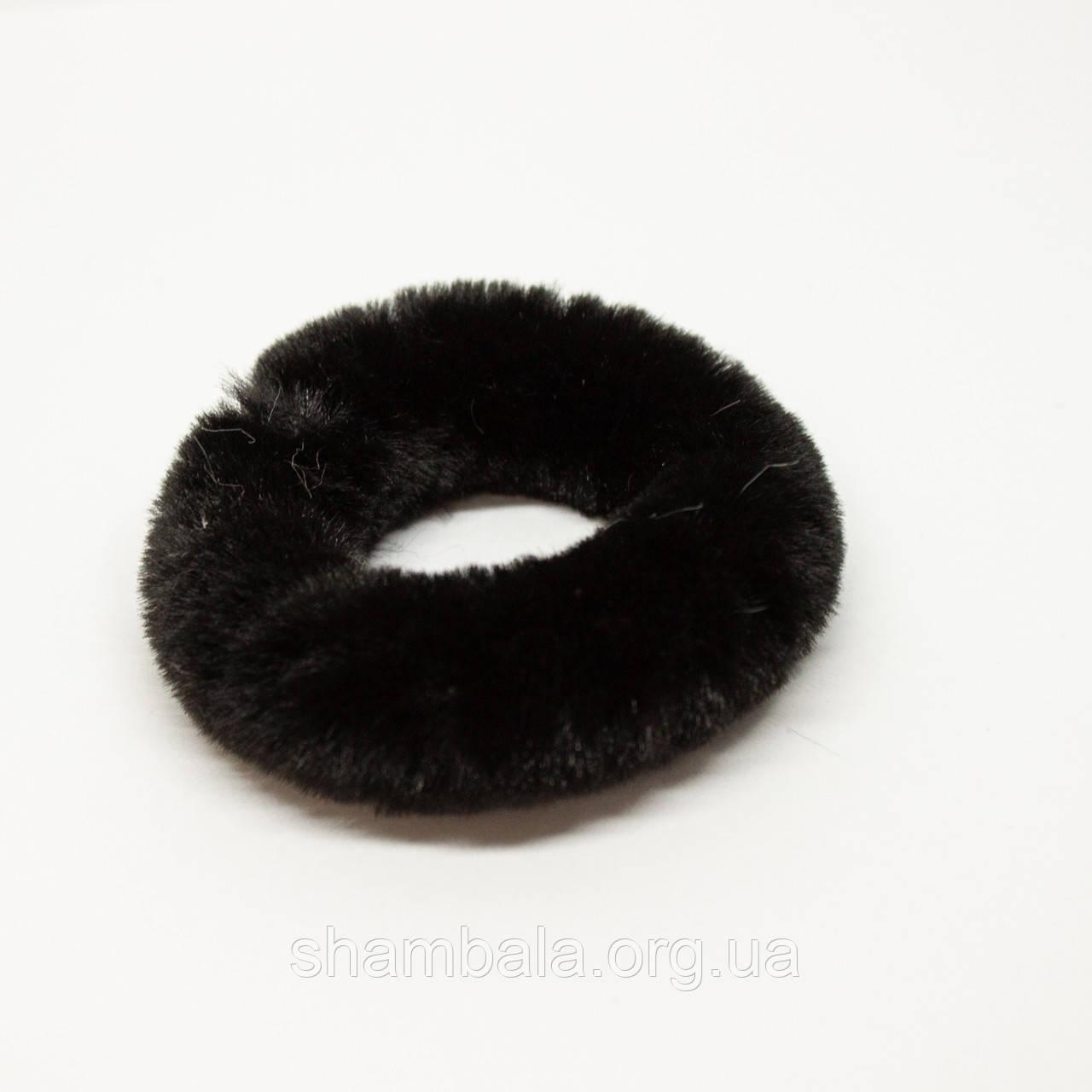 Хутряна гумка для волосся Xuping Jewelry чорна (65083)