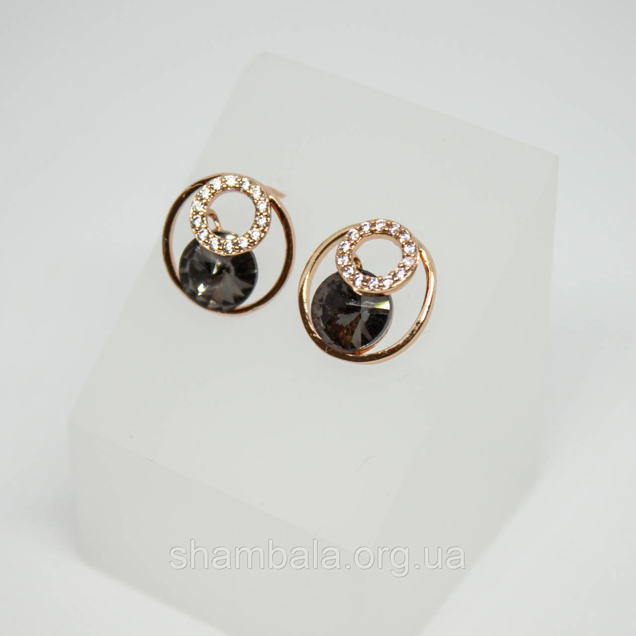 "Серьги Xuping Jewelry ""Инь янь"" позолота (74689)"