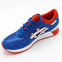 Кроссовки женские летние, голубо-оранжевые ,Размер 37,5 (стоковая обувь) Распродажа.