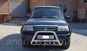 Кенгурятник с лого (защита переднего бампера) Suzuki Grand Vitara 1997-2005