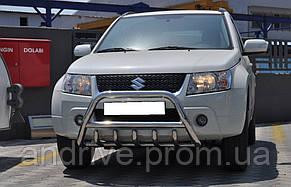Кенгурятник с грилем (защита переднего бампера) Suzuki Grand Vitara 2005-2012